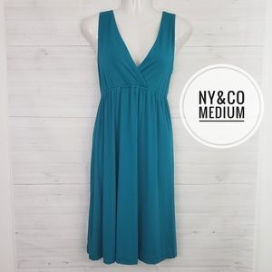 Medium NY&Co Teal Summer Dress